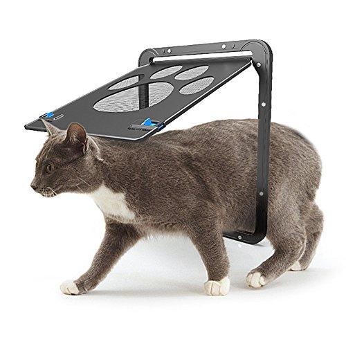 AIHOME Hundeklappe Katzenklappe Haustier Magnetisch Bildschirm Tür Abschließbar Haustiertüre Einfache Installation Genug Freiheit für Katze und kleinen Hunde, 24 x 29CM