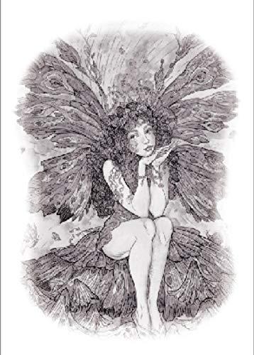 Adesivo per tatuaggi temporanei fata farfalla per uomini adulti donne bambini impermeabile falso body art coprire set ancoraggio grafico 21x15 cm 5 pcs