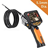Teslong 3.5 Inch Color LCD Monitor Handheld Industrial Endoscope Borescope Inspection Camera 6 LED Lights 5.5-mm Diameter Flexible Probe Waterproof Camera(3 Meter)