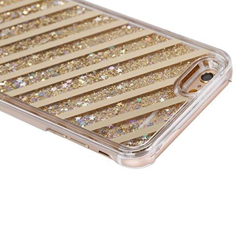iPhone SE/5S/5 Custodia,Ukayfe Elegante Bling Strass Design Particolari Puro Colore Custodia in Gel TPU Silicone, Ultra Sottile Bumper Shell Cover e Cristallo Bling Glitter Lucido morbido protettiva T Ipotenusa(Doro)