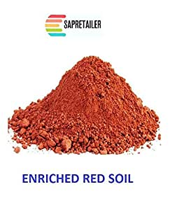 Sapretailer Red Organic Natural Soil (Multicolour, 10Kg)