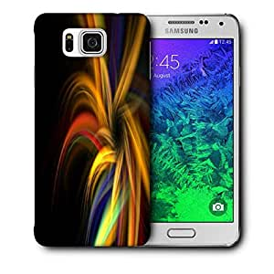 Snoogg Abstract Colorful Pattern Printed Protective Phone Back Case Cover For Samsung Galaxy SAMSUNG GALAXY ALPHA