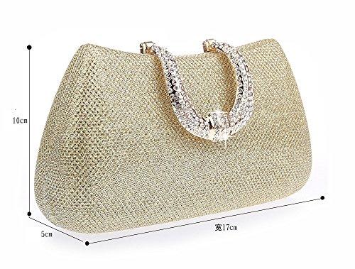 dd912282f8022 Lantra Besa Damen Strass Tasche Abendtasche Clutch Umhängetasche  Schultertasche mit 2 Ketten für Hochzeit und Party ...