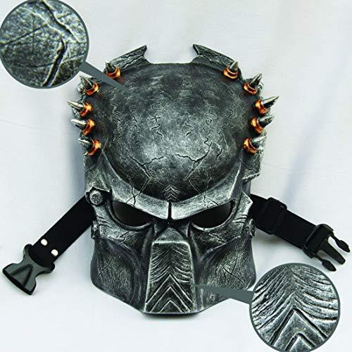 HAOBAO Halloween Horror Maske Iron Blood Warrior Maske Lone Wolf Iron Warrior Maske Cos, Silber (Wolf Warrior Kostüm)