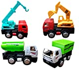 #10: Toyshine Engineering Automobile Car Toy Set, Pack of 4