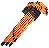 GOBEST Torx manomissione chiave a brugola set 9pezzi magnetico, braccio lungo (GB-0022)