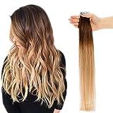 Extension Adhesive Naturel Ombre Extension Cheveux Naturel Adhesif [2.5g * 20...
