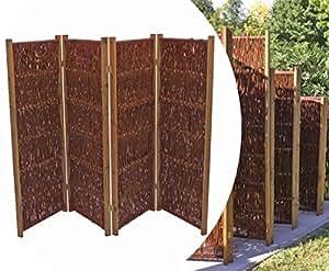 bambus raumteiler aus weiden paravent h he 120cm x breite 240cm 4 teilig. Black Bedroom Furniture Sets. Home Design Ideas