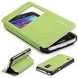 Urcover Galaxy S5 Mini Handyhülle Original View Hülle Case für das Samsung Galaxy S5 Mini Schutzhülle Schale Etui Cover [DEUTSCHE Marke] Grün