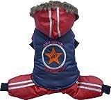 Doggy Dolly W282 Schneeanzug für Hunde Star Awesome, blau/rot, Größe : L