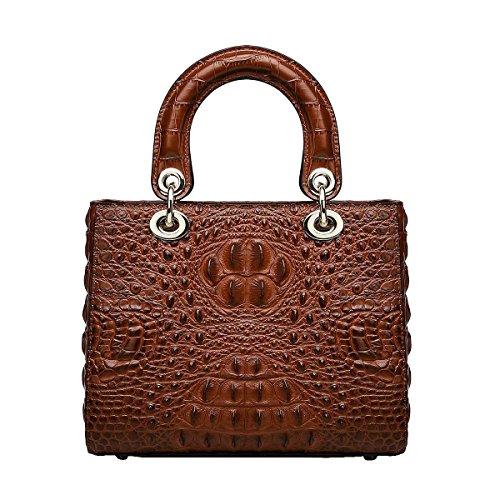 Mena UK-Women's New crocodile motif cuir artificiel multi-usages Casual sac en cuir souple / sac à bandoulière / sac Diana