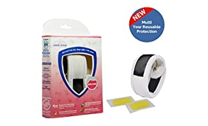 Safe-O-Kid Mosquito Repellent Multi Year Reusable Band with 2 Refills and 6 Anti Mosquito Patches (White)