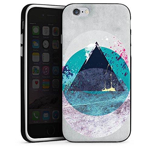 Apple iPhone X Silikon Hülle Case Schutzhülle Kreis Dreieck Klecks Silikon Case schwarz / weiß