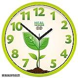 YANYANGXIN Moderno colorato muto muro orologio casa arredamento regalo per cucina soggiorno camera da letto Albero verde /14 pollici/ salvare la terra in particolare)