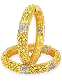 Sukkhi Artistically Gold Plated American Diamond Bangle For Women