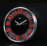 TOYM-La creativa de la sala de estar mudo mira color personalizado 3D estereoscópica un reloj digital reloj de pared minimalista moderna fluorescente no fluorescente