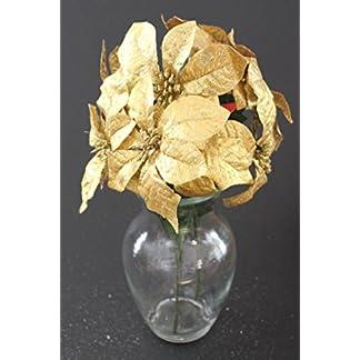 Christmas-Elegance-Set-von-2-356-cm-Sparkling-Weihnachten-Bush-mit-Knstlichen-152-cm-Weihnachtsstern-Blumen
