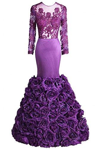 Bridal_Mall -  Vestito  - linea ad a - Senza maniche  - Donna Viola