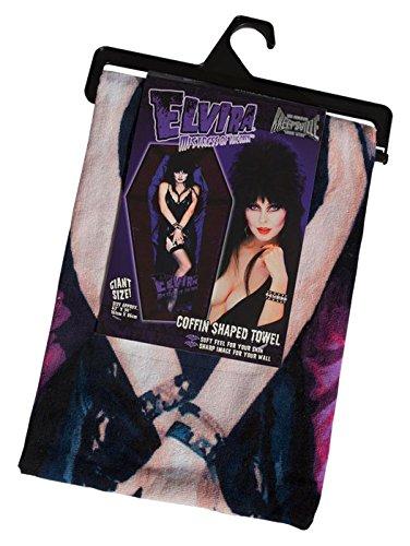les Elvira Mistress Of The Dark Sarg Strandtuch (Elvira Halloween)