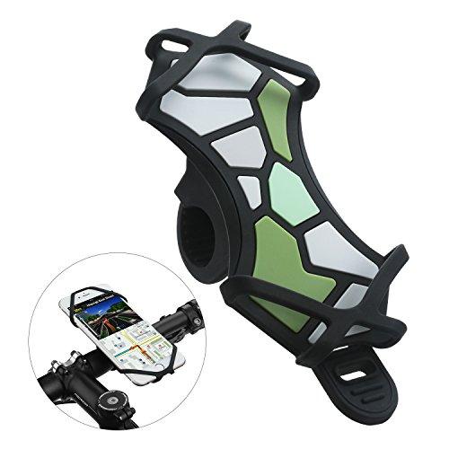 VOGEK Fahrrad Handyhalter, Handyhalterung Fahrrad für iPhone X/8/7/6/6s Plus Samsung Galaxy & Allen Handy mit 4,3-6,0 Zoll Bildschirm Verstellbarer Handyhalter für Fahrrad Motorrad