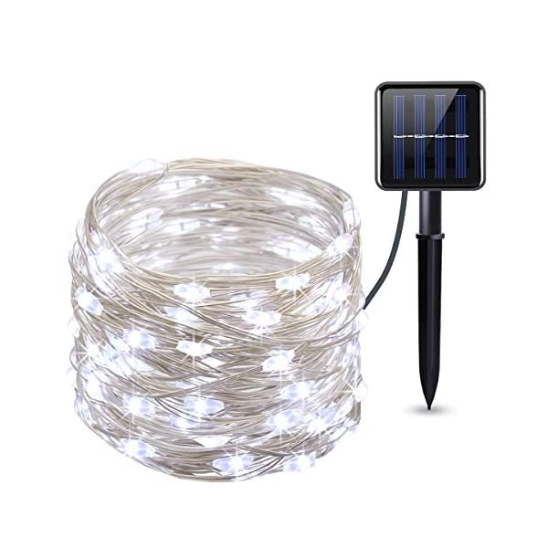 Criacr Fairy Lights, (100 LED 2 Modes) Solar Garden Lights, 33ft/10m Copper Wire Solar String Lights, Waterproof String…