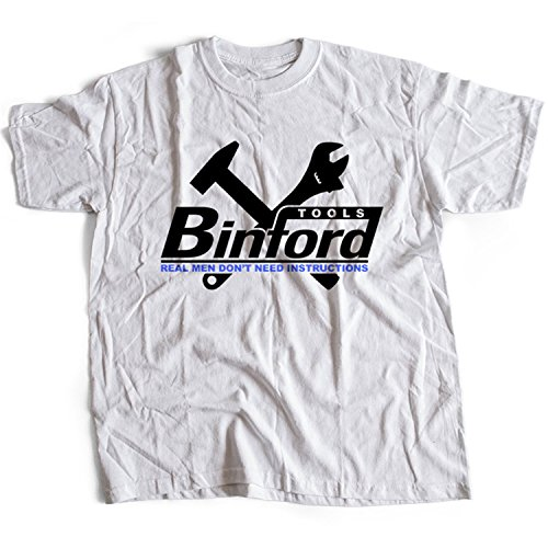 9043w Binford Tools Herren T-Shirt Home Improvement TV Comedy(Large,White)