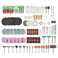 "‏‪Walmeck 166PCS 1/8"" Shank Rotary Tool Accessories Set Sanding Polishing Grinding Cutting Accessory Bit for Dremel Grinder‬‏"