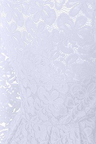 ... YaoDgFa Sexy Damen Kleider Spitze Abendkleid Cocktailkleid Partykleid  Rockabilly Kleid Knielang Festlich Langarm Off Schulter Retro ... 3b5909e94a