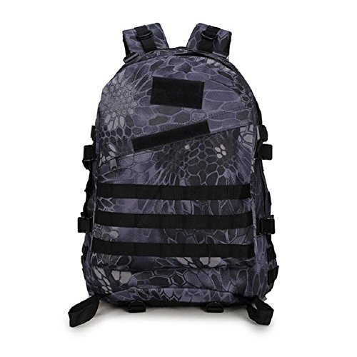 Z&N Backpack Borsa militare campeggio outdoor alpinismo sport spalle zaino camouflage zaino tattico militare uomini e donne grande capacità 40L portatile all'apertocp40L black python