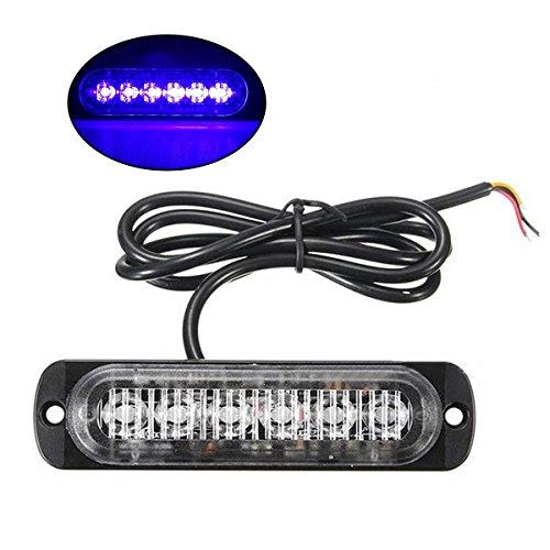 WINOMO LED Faro emergenza e lampeggiante 12W 12-24V con Luce Blu