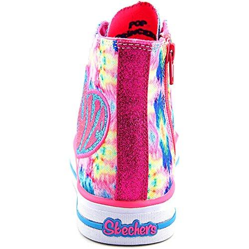 Skechers Shuffles -Sparkle Smile Textile Turnschuhe Neon/Pink/Multi