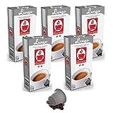 50 Kaffee Kapseln Nespresso kompatibel - Lungo (5 x 10 Kapseln) von Bonini