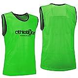 10 Fußballleibchen - Trainingsleibchen - Leibchen - Markierungshemden von athletikor (Grün, ab B Jugend - Erwachsene XL: 73X60CM)