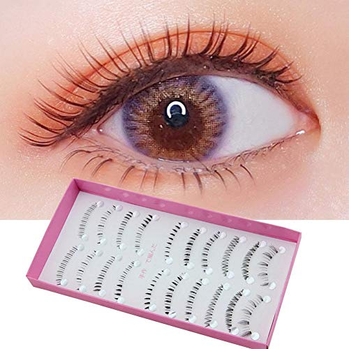 Blue Vessel 10 Paar untere Wimpern Lower False Eyelashes Reine handgewebte Natur falsche Wimpern