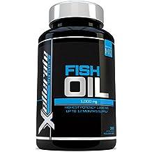 Omega 3 Olio Di Pesce 1000 mg - 365 Capsule Softgel - Prodotto in UK - Integratore di Omega 3 Olio di Pesce ad Alto Dosaggio - Omega 3 6 9 Tripla Forza per EPA & DHA