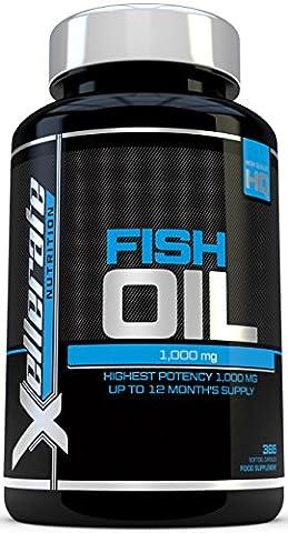 Omega 3 Fischöl 1000mg- 365 Gelkapseln –