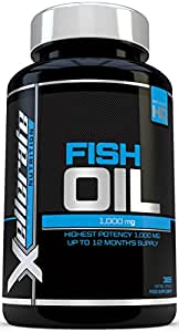 Omega 3 Fish Oil 1000mg– 365 Softgels - UK Manufactured - High Strength Omega 3 Fish Oil Supplement Promoting Healthy Heart, Joints and Skin – Omega 3 6 9 Triple Strength EPA & DHA