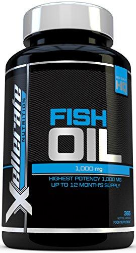 Aceite de Pescado Omega 1000 mg- 365 cápsulas softgel - Fabricado en el...