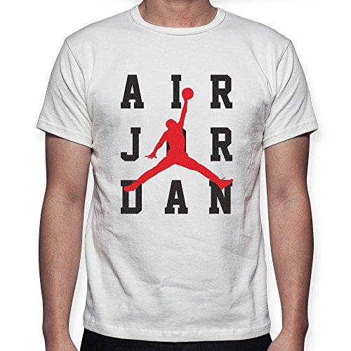 T-shirt maglia air jordan logo - uomo donna unisex - bianca o nera (12/14 anni, bianco)