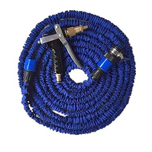 MCL-schlauchaufroller Garten-Verlängerungsschlauch, Blau Flexibler, Erweiterbarer Magic-Wasserschlauch | Schlauchverbinder Fittings | 7 Funktionsspritzpistole (größe : 50M) - Wagen Tür-hardware
