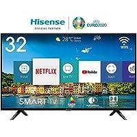 Hisense H32BE5500 Smart TV 32' (80 cm) HD, 2 HDMI, 2 USB, Uscita ottica e cuffie, Wifi, DBX Audio, processore Quad Core, Smart TV VIDAA U 2.5