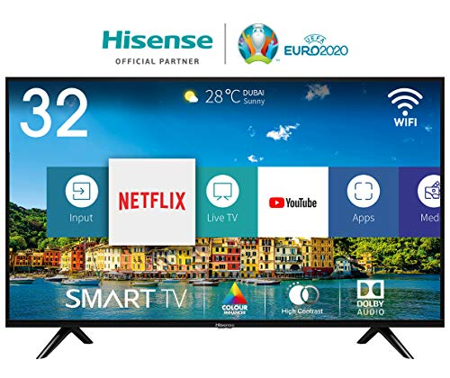 Foto Hisense H32BE5500 Smart TV 32' (80 cm) HD, 2 HDMI, 2 USB, Uscita ottica e cuffie, Wifi, DBX Audio, processore Quad Core, Smart TV VIDAA U 2.5