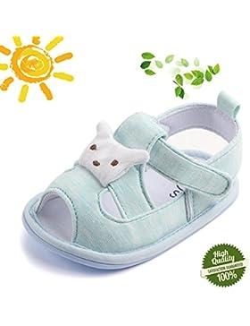 Zapatos de Bebe Primeros Pasos, Morbuy Verano Unisexo Suave Zapato Estilo Lindo Oso Sandalia Material de Algodón...