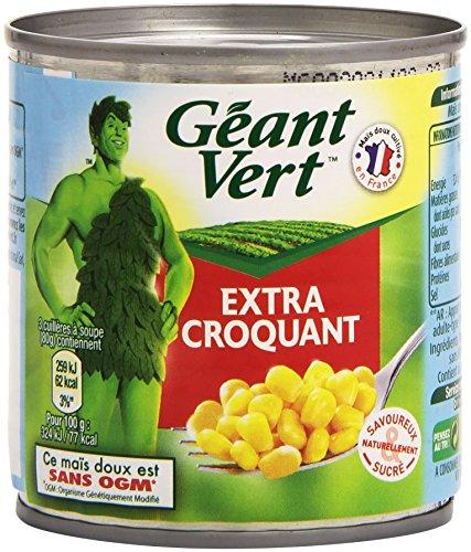 Géant Vert Maïs Ultra Croquant 3 Boites x 150 g - Lot de 4