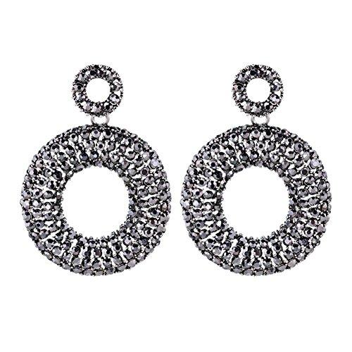 Europa und die Vereinigten Staaten beliebt übertrieben Retro Super Flash voller Diamant-Ring Ohrring Ohrringe , b Mikro-diamant-ring