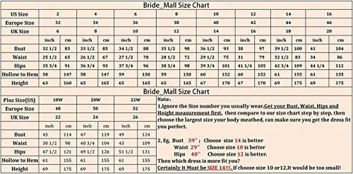 Bridal_Mall - Robe de mariage - Trapèze - Sans Manche - Femme Violet