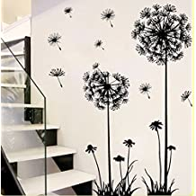 Dandelion Home Decor Papel adhesivo decorativo para pared Pegatina de pared para sala de estar 70x 50cm, 5, Dandelion