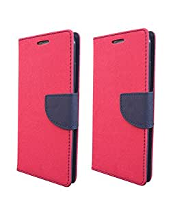 COVERNEW 2 Flip Cover for Lenovo Vibe P1 Turbo - Pink::Pink