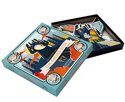 Marbushka - kooperativ Brettspiel mit Einer ritterlichen und gruseligen Geschichte - Hergestellt aus natürlichen Materialien in Ungarn - Der Geist und die goldenen Schlüssel - Geister Brettspiel