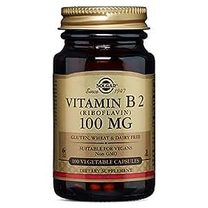 Solgar Vitamin B2 100 mg Vegetable Capsules (Riboflavin) - 100 capsules